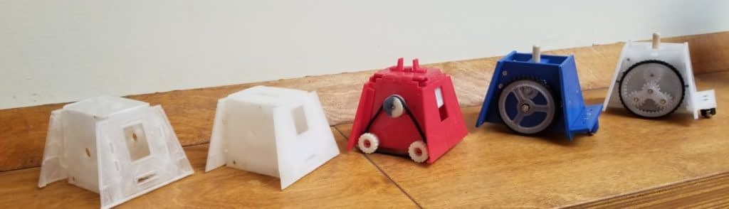 Different Paperbot chassis' side by side
