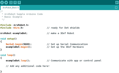 Arduino IDE compatible robot code